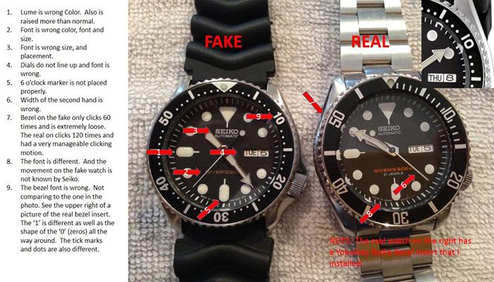 1 những điều không bao giờ có ở đồng hồ seiko fake